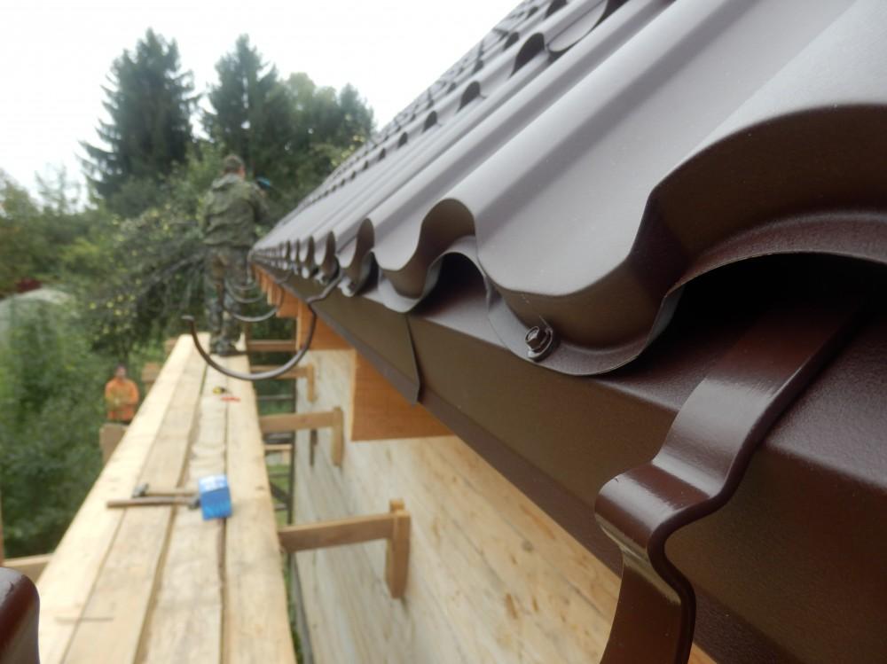 Водосток для крыши своими руками фото